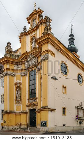 The Prandtauerkirche as a Roman-Catholic rectorate church stands in the city of St. Polten Austria