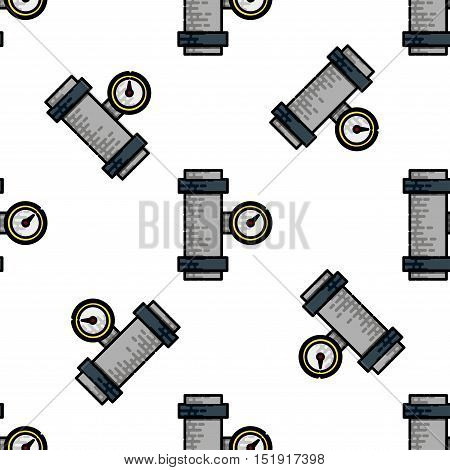 Water Pipes flat icon pattern. Vector illustration, EPS 10