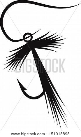 Vector Design Template Of Fishing Hook Lure