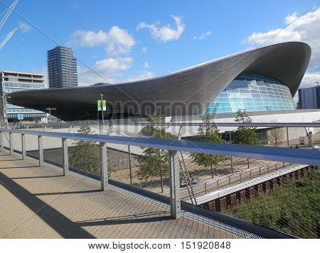 Olympic Park Aquatic Centre London England United Kingdom Europe
