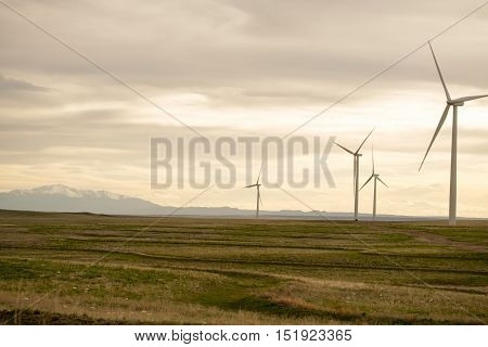 Wind Turbines in Colorado near Pike's Peak