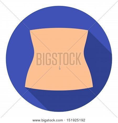 Abdomen icon in flat style isolated on white background. Part of body symbol vector illustration.