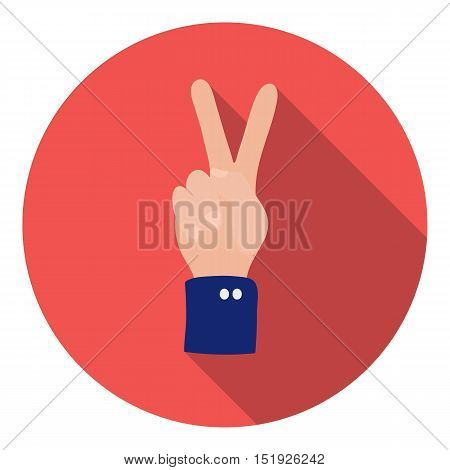 Peace icon in flat style isolated on white background. Patriot day symbol vector illustration.