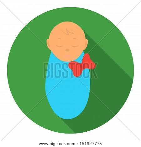 Infant icon in flat style isolated on white background. Pregnancy symbol vector illustration.
