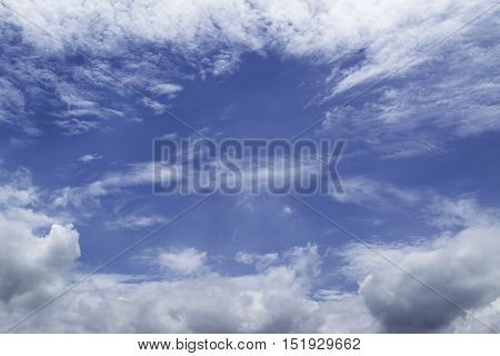 Beatiful of Blue sky with the clouds