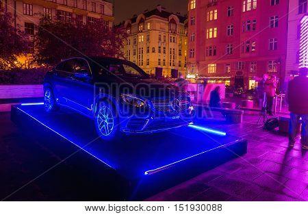 PRAGUE CZECH REP - OCTOBER 13 2016: Mercedes-Benz V-Class 2016