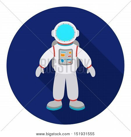 Astronaut icon in flat style isolated on white background. Space symbol vector illustration.