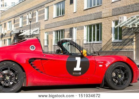 MOSCOW - SEP 13, 2015: Lotus cabriolet car. Lotus Cars - British manufacturer of sports and racing cars