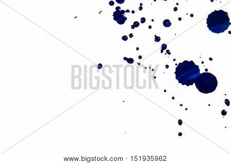 Cobalt Blue Watercolor Background Isolated On White. Watercolor Blue Background. Sloppy Strokes, And