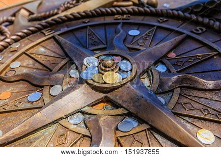 Compass Pray For Guiding For Life To Happy And Success.