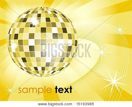 retro disco ball background - vector illustration