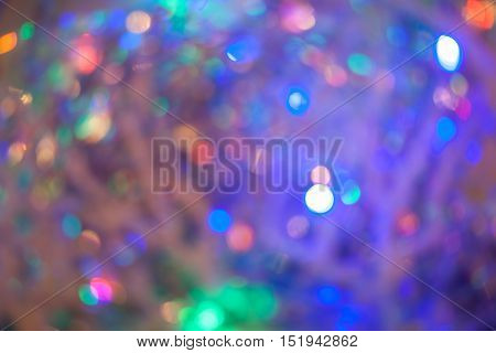 Abstract motion blur background with bokeh. Background for Christmas or New Year.