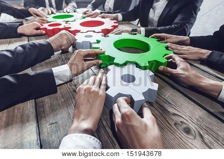 People With Cogs Of Business