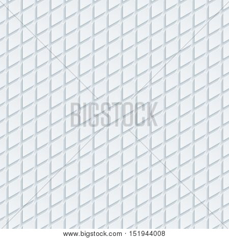Abstract hi-tech geometric seamless pattern. Neutral tileable background of rhombus. Vector EPS10.