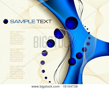 blue tech abstract background - vector illustration - jpeg version in my portfolio