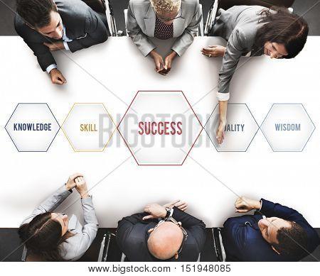 Success Training Development Geometric Forms Graphic