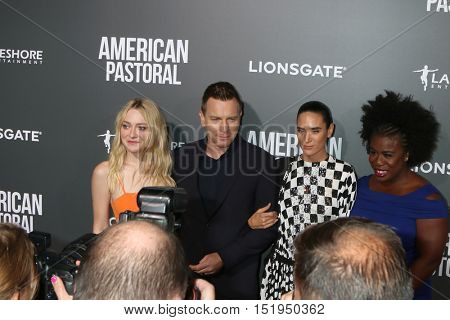LOS ANGELES - OCT 13:  Dakota Fanning, Ewan McGregor, Jennifer Connelly, Uzo Aduba at the