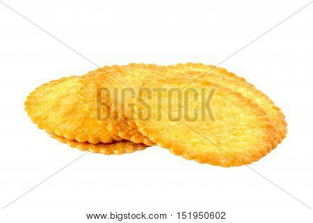 BISCUITS isolated on white , snack ,