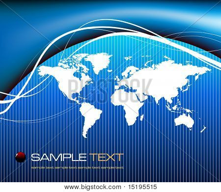 world map background concept - vector illustration - jpeg version in my portfolio