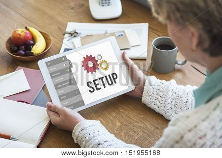 Setup Settings Configuration Tools Concept
