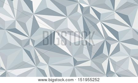 Abstract polygonal background - computer-generated image. Light grey and white low poly vector pattern. Chaos triangle like texture of crumpled paper. Universal business or technology backdrop.