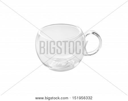 Transparent Glass cup with a double bottom