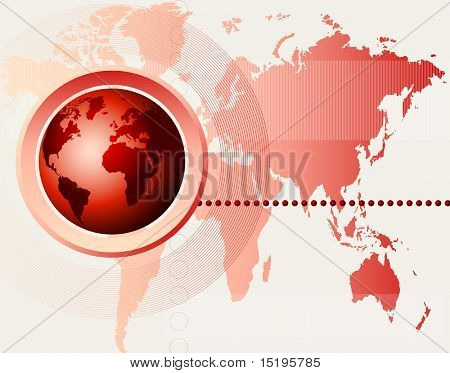 abstract futuristic world map background
