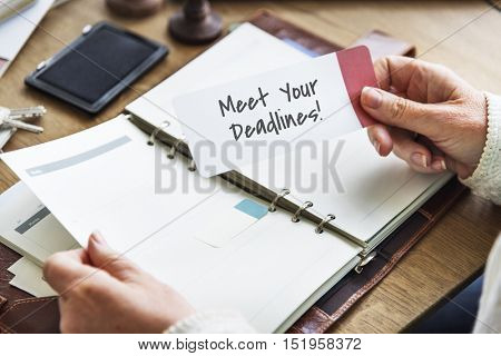 Meet Your Deadlines Appointment Events Concept