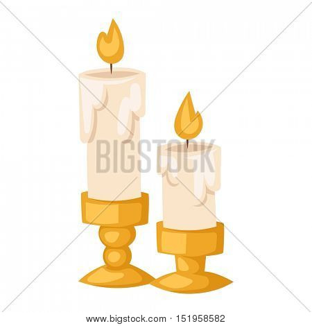 Aroma candle vector illustration