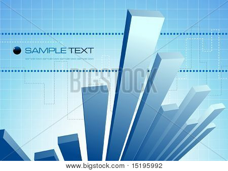 abstract business diagram composition - vector illustration - jpeg version in my portfolio