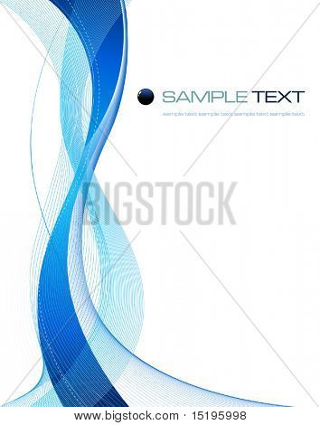 blue abstract composition - vector illustration - jpeg version in my portfolio