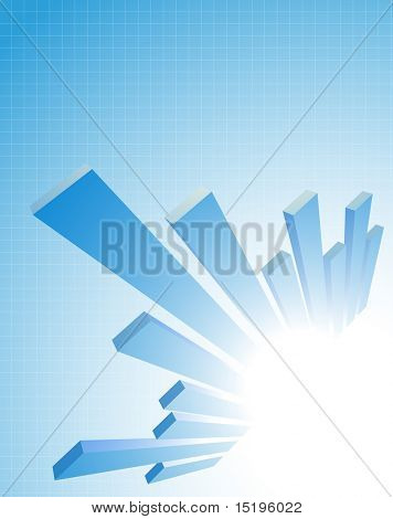 abstract business diagram composition