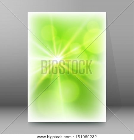 Background Report Brochure Cover Pages A4 Style Abstract Glow81
