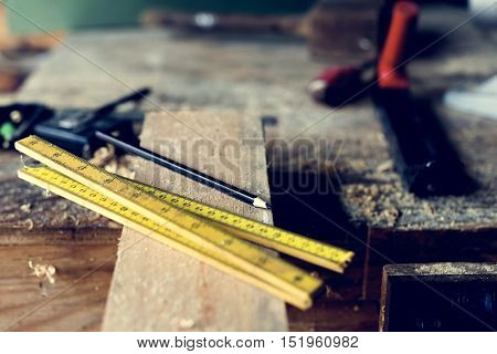 Carpenter Craftman Lumber Timber Woodwork Concept