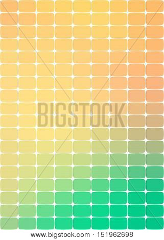 background with rounded rectangles through orange and green colors of shades and their