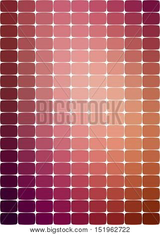 background with rounded rectangles of purple-brown color and its shades