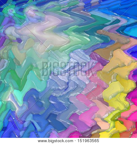 Abstract coloring background of the abstract gradient with visual mosaic,hexagon,spherize,lighting,pinch,wave and plastic wrap  effects