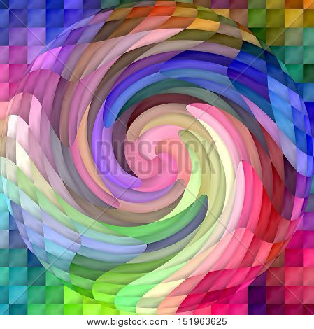 Abstract coloring background of the color harmonies gradient with visual spherize,twirl and lighting effects