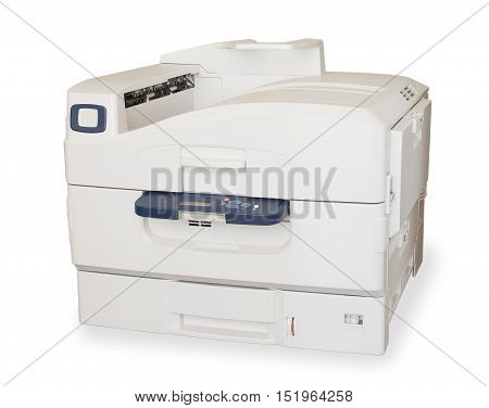 big color laser printer on white background