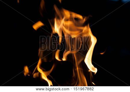 Hell fire. The concept texture and background