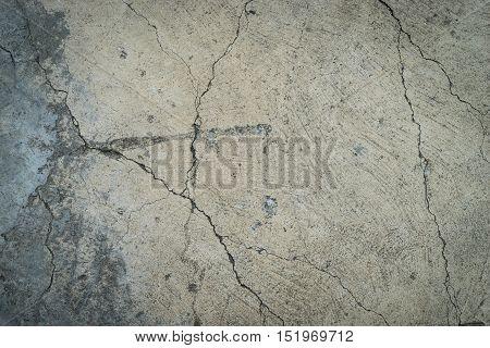 Broken concrete floor for texture and background