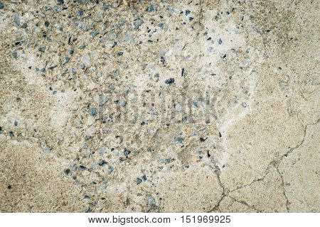 cracked concrete floor for texture and background