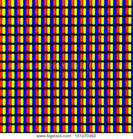 Micrograph of a smartphone screen, light microscopy, magnification 40x