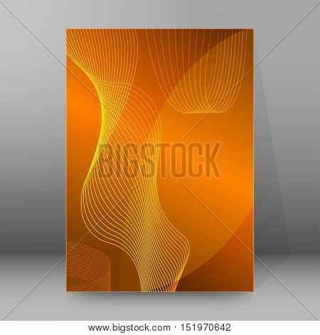 Background Report Brochure Cover Pages A4 Style Abstract Glow99