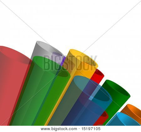 Colorful abstract composition