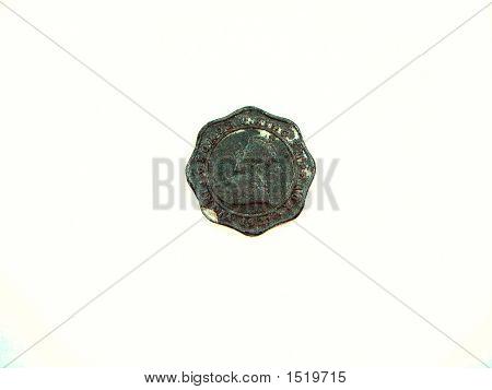 Cuatro Anna moneda de la época del rey George V emperador