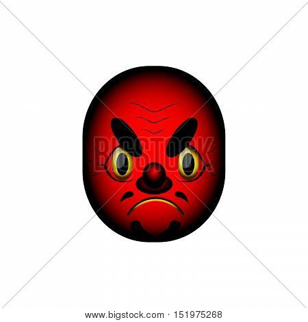Japanese demon mask type 3 with gradients
