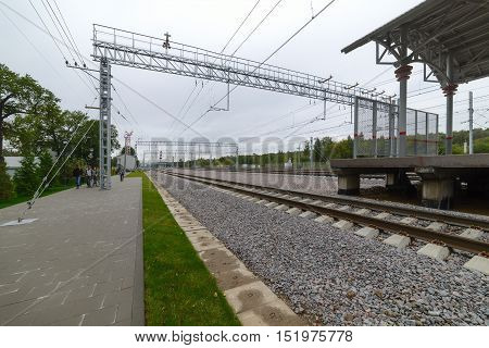 Access Roads To The Stations Of The Moscow Ring Railway.