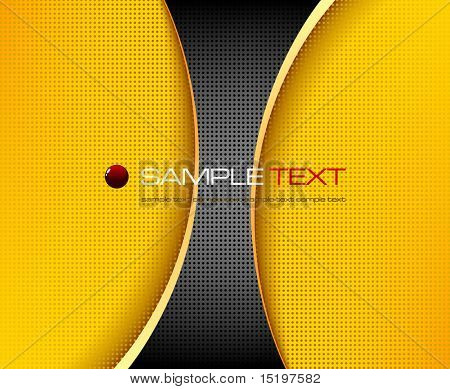 Black and yellow background composition - vector illustration