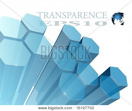 3d transparent abstract background - vector illustration
